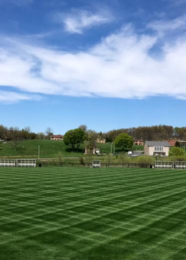 Soccer Stadium Mowed by Godshall's Landscaping